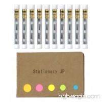 Pentel Mechanical Pencil Eraser Refill (Z2-1N) 10-pack/total 40 Leads Sticky Notes Value Set - B0797Q2QQS