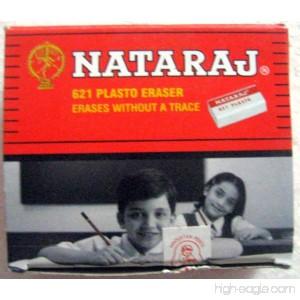 Set of 20 Nataraj 621 Plasto Erasers - White Eraser - Erases without a Trace - 6253193805