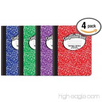 "Composition Book Notebook - Hardcover  Wide Ruled (11/32-inch)  100 Sheet  One Subject  9.75"" x 7.5""  Assorted Covers: Red  Blue  Green  Purple-4 Pack - B07F21LRMQ"
