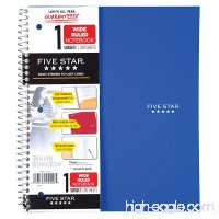 "Five Star Spiral Notebook  1 Subject  Wide Ruled Paper  100 Sheets  10-1/2"" x 8""  Cobalt Blue (72023) - B003O2RXME"