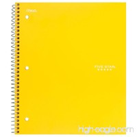 """Five Star Spiral Notebook  3 Subject  Wide Ruled Paper  150 Sheets  10-1/2"""" x 8"""" Sheet Size  Color Will Vary (05244) - B0091G6SS2"""