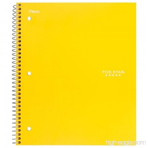 Five Star Spiral Notebook 3 Subject Wide Ruled Paper 150 Sheets 10-1/2 x 8 Sheet Size Color Will Vary (05244) - B0091G6SS2