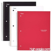 """Five Star Spiral Notebooks  1 Subject  College Ruled Paper  100 Sheets  11"""" x 8-1/2""""  Black Blue  Red  3 Pack (73055) - B00P9U6FC8"""