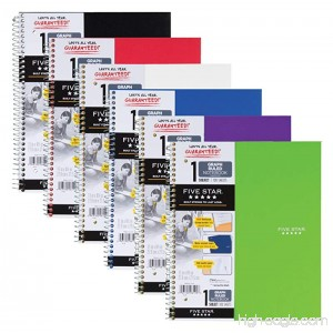 Five Star Spiral Notebooks 1 Subject Graph Ruled Paper 100 Sheets 11 x 8-1/2 Color Will Vary 2 Pack (73531) - B07145M666