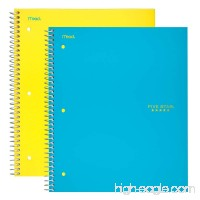 Five Star Spiral Notebooks 5 Subject College Ruled Paper 200 Sheets 11 x 8-1/2 Teal Yellow 2 Pack (73509) - B0718Y6YS6