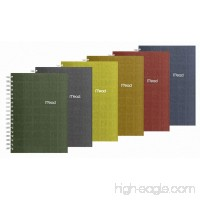Mead Spiral Notebook 1 Subject College Ruled Paper 120 Sheets 9-1/2 x 6 Recycled Assorted Colors (06674) - B002G1YN2W