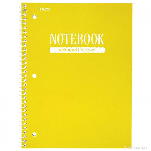 Mead Spiral Notebook 1 Subject Wide Ruled Paper 70 Sheets 10