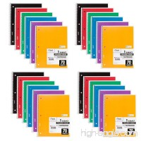 Mead Spiral Notebooks  College Ruled  70 Sheets  Assorted Colors  24 Pack (73705) - B010PK6F8U
