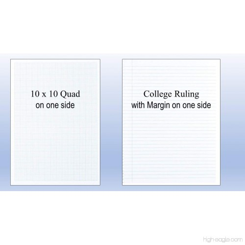 National Engineering and Science Notebook College Rule 11x 8 1//2 White 60 Sheets