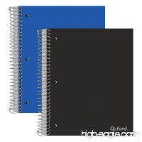 "Oxford 5-Subject Poly Notebooks  9"" x 11""  College Rule  Assorted Color Covers  200 Sheets  5 Poly Divider Pockets  2 Pack (10388) - B07CJPSD3F"