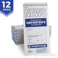 "Portage Reporter's Notebook – #200 Gregg Ruled 4"" x 8"" Professional Spiral Notebook for Taking Notes in the Field - 140 Pages (12 Pack) - B00KSLRG4E"