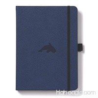 Dingbats Wildlife Medium A5+ (6.3 x 8.5) Hardcover Notebook - PU Leather  Micro-Perforated 100gsm Cream Pages  Inner Pocket  Elastic Closure  Pen Holder  Bookmark (Grid  Blue Whale) - B01DUXO93C