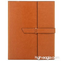 Gallaway Leather Padfolio Portfolio Folder - Perfect for your Interviews  Resumes  Presentations and Meetings and it fits Letter  Legal  A4 Notebooks and Notepads (Brown) - B01LXLAQ5Y