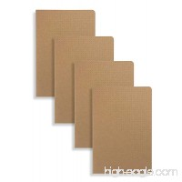 Miliko A5 Kraft Paper Series A5 Softcover Notebooks/Journals/Diary Set-4 Items Per Pack(Dot) - B01M1H0E5X