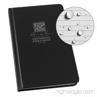 Rite in the Rain Weatherproof Hard Cover Notebook 4 3/4 x 7 1/2 Black Cover Universal Pattern (No. 770F) - B00K7MIJCC