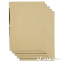 (Set of 5) A6 Handmade 4 x 5.75 inches Notebook/Plain Blank Cover/60 Unlined Page | Lay Flat Binding | Cream Paper - B014IIPA5O