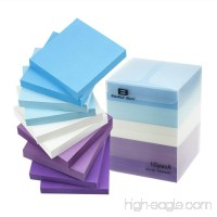 Early Buy 5 Water Color Sticky Notes Self-Stick Notes 3 in x 3 in  100 Sheets/Pad  10 Pads/Pack in Box - B07DQL22ZH