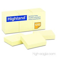 Highland 6539YW Self-Stick Notes 1 1/2 x 2 Yellow 100-Sheet (Pack of 12) - B00006JN7R