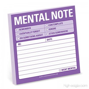 Knock Knock Mental Note Sticky Notes (12435) - 1601063466