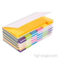 Pack of 6 Index Tabs - Divider Sticker Notes 360 Ruled Notes Bookmark Stickers- Color Coded for Students Office Use Home Use 3 x 5 inches - B078LTSXGJ