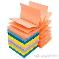 Pop up Sticky Notes 3 x 3 inch Self-Stick Notes Pads 100 Sheet per Pad 10 Pad Include Individual Package Easy Post 5 Colors - B078MKRT7Y