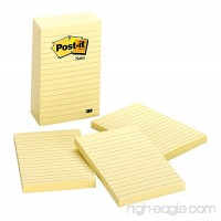 Post-it Notes  4 in x 6 in  Canary Yellow  Lined  5 Pads/Pack  100 Sheets/Pad (660-5PK) - B00006JNNW