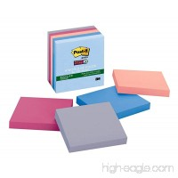 Post-it Recycled Super Sticky Notes  3 in x 3 in  Bali Collection  5 Pads/Pack (654-5SSNRP) - B001UHOU08