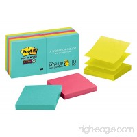 Post-it Super Sticky Pop-up Notes 3 in. x 3 in Miami collection 10 Pads/Pack 90 Sheets/Pad (R330-10SSMIA) - B01D8F5NDM