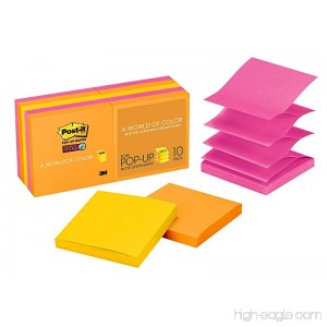 Post-it Super Sticky Pop-up Notes 3 in x 3 in Rio de Janeiro Collection 10 Pads/Pack (R330-10SSAU) - B001PME0VW
