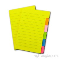 Sticky Notes 4 x 6 inches 66 Ruled Notes Assorted Neon Colors 2 Pads - B07D6FGS92