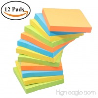 Sticky Notes NOMOLOS 3 in x 3 in 12 Pads 100 Sheets/Pad 4 Colors Easy Post Self-Sticky Notes for Office School Business Family - B07D1NJJ2W