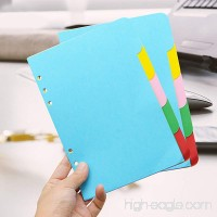 A5 Dividers eBerry 10 sheets Colored Day Planner Divider Index Page Tab Cards Notebook Accessories Fresh Style Match for A5 6-Holes Ring Binders/Filofax Notebook/School Stationery 5 Color(KJ-00300) - B01JIHBV3A
