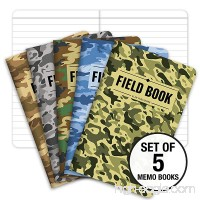 "Field Notebook - 3.5""x5.5"" - Camouflage - Lined Memo Book - Pack of 5 - B07BB5FB4T"