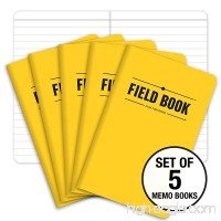Field Notebook - 3.5x5.5 - Yellow - Lined Memo Book - Pack of 5 - B07488J6C2