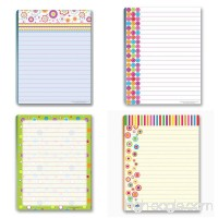 Fun Pattern Designs Pads - 4 Assorted Girl Designs Note Pads - B00PYR5M3E