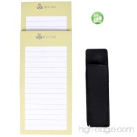 HOLDM Strong Refrigerator Magnetic Memo Notepads for To Do List with Bonus Leather Pen Holder and Fridge Magnet (2 pads+1 pen holder +1 magnet) - B06XT1NS7S