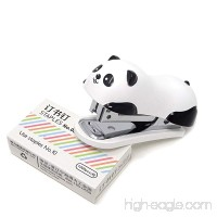 Honbay Portable Mini Cute Panda Desktop Stapler Set with 1000PCS No.10 Staples for Office School Home or Travel Use - B077N6S86P