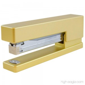 JAM Paper Colorful Staplers - 6 x 2 1/2 x 1 1/8 - Gold Stapler - Sold Individually - B071HJ87N2