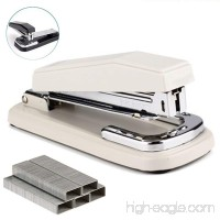 Staplers Rotate Stapler Desk Stapler Metal Stapler Office Supplies with 1000 Staples (White) - B078X4SWPR