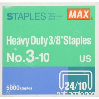 MAX 3/8-Inch Staples for HD-3DF Stapler (5 000 Staples per Box) (3-10) - B001JQDKOW