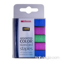 Officemate Color Standard Staples 2000 in Pack Assorted Colors (91937) - B007Y17UI8