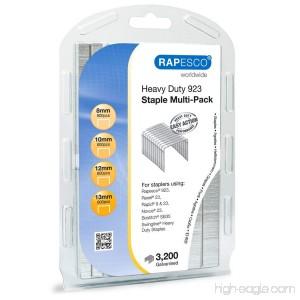 Rapesco Heavy-Duty 923 (Type 23) Staple Multipack 5/16-1/2 Resealable Pack of 3 200 Staples (1246) - B016BEGIB8