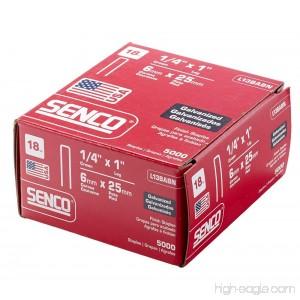 Senco L13BABN 18-Gauge by 1/4-inch Crown by 1-Inch Leg Electro Galvanized Staples 5000-Per Box - B000CP2PHE