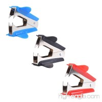 Adecco LLC 6PCS Extra Wide Steel Jaws Style Staple Remover (Black  Red  Blue) (6p) - B01JIPXKYA