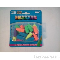 25 Pack of Multicolored Pencil Top Erasers - B00CZE2UVQ