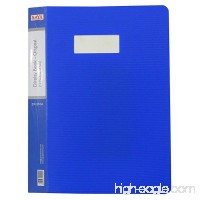 10 Pockets Blue File Display Book Sheet Protector Document A4 Paper Folder Pack of 1 - B06XWH4SFS