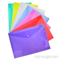 35 Packs Transparent Poly Envelope  Bantoye A4 Document Folder with Snap Button Closure  7 Assorted Colors - B07F17YTJS