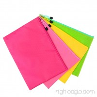 4pcs A4 Zip Files Bags Waterproof Document Pouches with Zipper Assorted Color - B07DKDRRQC