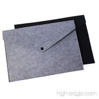 AIMITEI Felt File Folders Durable Briefcase Document Bag Expanding Document File Folders Larger Than A4 Size Pack of 2 - B07DJ7FFGZ