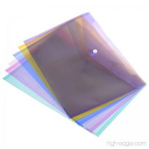 BCP 12 pcs Transparent Poly A4 Size Envelope Document File Folder Bag Pouch Holder with Snap Button - B074V1VRCL